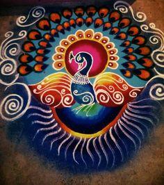 32 Ideas Flowers Drawing Tattoo Embroidery Designs For 2019 Rangoli Designs Peacock, Indian Rangoli Designs, Rangoli Designs Latest, Colorful Rangoli Designs, Mehndi Art Designs, Kolam Designs, Easy Rangoli Designs Videos, Simple Rangoli Designs Images, Small Rangoli Design