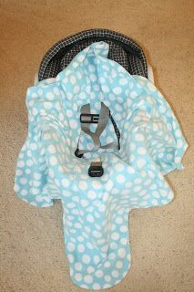 this idea! A car seat blanket! It's a pattern to sew a blanket ...