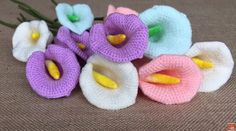 A beautiful lily flower see how to crochet yarn store   Patterns Free