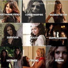 Vampire Diaries The Originals, Vampire Diaries Poster, Vampire Diaries Damon, Vampire Diaries Quotes, Katharina Petrova, Klaus And Hope, Vampier Diaries, Original Vampire, Katherine Pierce