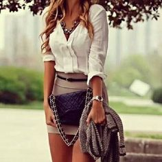 LoLoBu - Women look, Fashion and Style Ideas and Inspiration, Dress and Skirt Look Look Fashion, Fashion Outfits, Womens Fashion, Fashion Trends, Fashion Ideas, Street Fashion, Luxury Fashion, Fashion Clothes, Fashion Bags