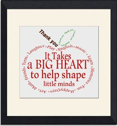 Teacher Gift-  Appreciation Apple- Thank you- word art Instant Download Typography word cloud retirement Quote