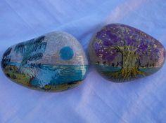 piedras de la suerte  piedras naturales,amatistas y cuarzos,pintura artesanal