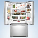 KitchenAid French-door Counter-depth Refridgerator KFCS22EVMS  21.8 cu. ft.   Width: 35 5/8    Depth: 30 1/8