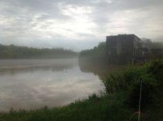 Flooded Rappahannock in Fredericksburg