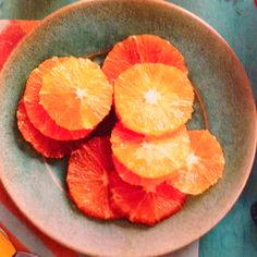 slice oranges this way for fruit tray