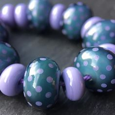 Lampwork glass 'Denim' beads by Laura Sparling See this Instagram photo by @beadsbylaura • 5 likes