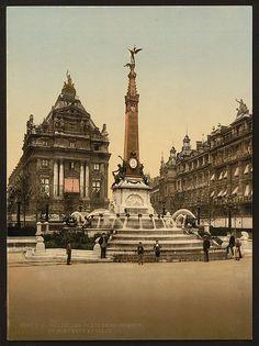 Place de Brouckère - De Brouckèreplein 1890-1900