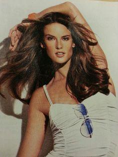 Brunette wind blown hair