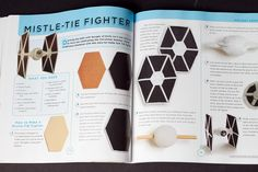 Tie Fighter Craft, by The Star Wars Craft Book Star Wars Birthday, Star Wars Party, 7th Birthday, Book Crafts, Diy Crafts, Star Wars Crafts, Star Wars Books, Tie Fighter, Art Projects
