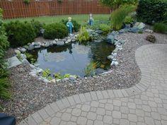 Pond near patio - for my Koi! Pond Landscaping, Ponds Backyard, Landscaping With Rocks, Garden Ponds, Backyard Ideas, Paver Walkway, Flagstone Patio, Patio Pond, Walkways
