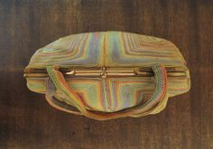 Vintage 1940s pastel RAINBOW color CORDE by FromEveWithLove