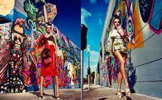 Femininely Edgy Fashion : Flare Magazine 'Pulp Fashion'