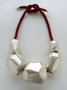 Art Jewelry, Yu-Chun Chen, Artist, 2007, necklace, silver, cord