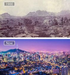 Seoul, South Korea Then And Now Pictures, Before And After Pictures, Old Pictures, Dubai, Kuala Lumpur, Abu Dhabi, Bangkok, Tokyo, Photo Voyage