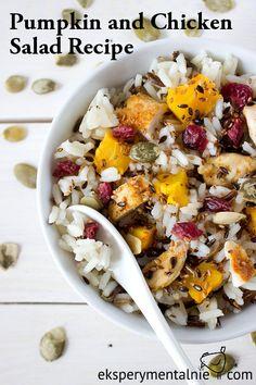 Pumpkin and Chicken Salad Recipe / Sałatka z dynią i kurczakiem - przepis na…