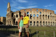 From Italy in August 2014, Scott Ceru, '94, MBA'02, and wife Andrea bring Wolverine spirit to the Roman Colosseum.