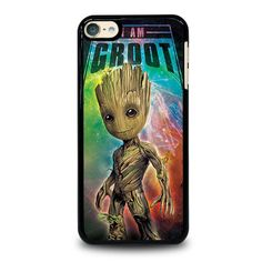 BABY GROOT 1 iPod Touch 6 Case Cover - Black / Plastic