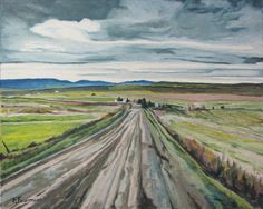 François Fournier Canadian Impressionist  http://francoisfournierart.com/  This painting depicts a gravel road during the brown part of fall season. This is taking place in the Eastern Townships at LaPatrie, Quebec,Canada.