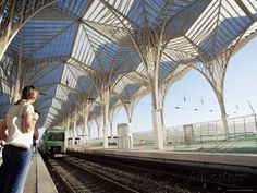 Calatrava Train Station, Lisbon, Portugal | The Modern Oriente Railway Station, Designed by Santiago Calatrava ...