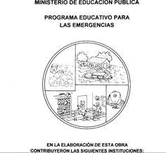 Organización escolar para desastres Ministerio Educación Pública