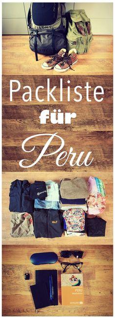 Noch unsicher, was du für Peru brauchst? Diese Packliste ist speziell für Peru! @info_peru