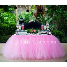 Wedding Décor Classic Tulle Spool of 25-Yard for  Birthday Desk Decoration Assorted Color (6Inch*25yards) 2017 - €6.57