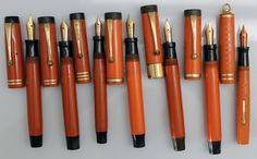 Just some old Parker & Wahl Orange Fountain Pens