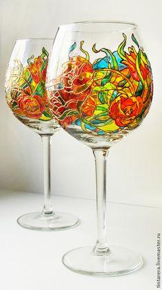"бокалы для вина ""Тюльпаны"""