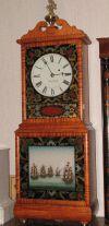 This clock is a replica of Aaron Willard's 1815 Shelf Clock.http://www.hicksantiqueclocks.com
