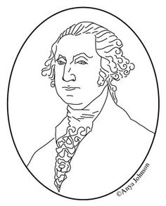 George W Bush 43rd President Clip Art Coloring Page Or Mini Poster