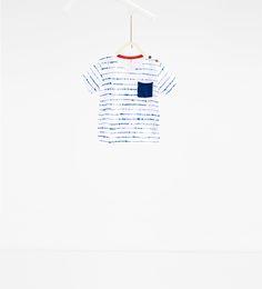T-shirt à rayures pointillées