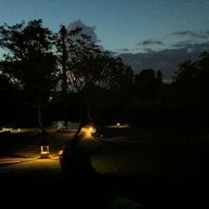 Villa BaliBaliの夕暮れ