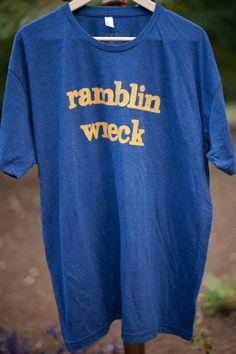 "Men's Georgia Tech ""Ramblin Wreck"" Vintage Tee. $34.95, via Etsy."