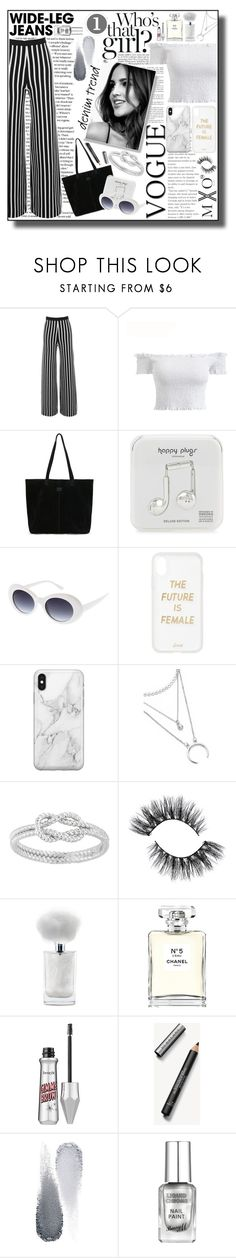 """""""#Lashy & #Sassy"""" by mxogirl ❤ liked on Polyvore featuring TOMS, Happy Plugs, Sonix, Recover, Chanel, Burberry and Clé de Peau Beauté"""