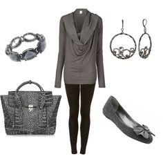 Casual but put together and those ballets flats are really cute :)