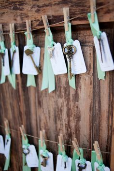 Whimsical, Vintage Skeleton Key Escort Cards | Alexan Events https://www.theknot.com/marketplace/alexan-events-denver-co-319558 | Brinton Studios https://www.theknot.com/marketplace/brinton-studios-denver-co-283630