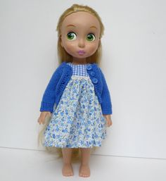 Gingham and floral dress and cardigan by Hillyrags on Etsy