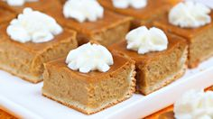 Pumpkin Pie Bars - made to take to Thanksgiving. Super easy, minus the sides of the dough and the parchment paper - was not happening!