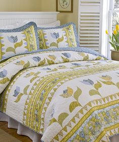 Look at this Dutch Flowers Quilt Set on #zulily today!