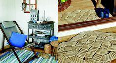 Un tapis tresséRéalisez ce tapis tressé en corde de manille. Idéal dans une maison en bord de mer ou sur une terrasse pour une ambiance vacances garantie !