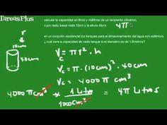 Problemas sobre volumen de esfera y cilindro