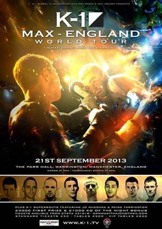 Max England - Manchester Ergebnisse - Results K1 Kickboxing, K 1, Martial Arts, Manchester, England, World, Tatoo, Marshal Arts, The World