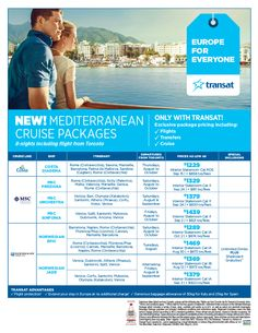 Featured Promotion - Mediterranean Cruise Packages