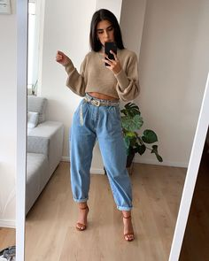 Winter Fashion Street Style Fashion Outfit of the day Street Style Outfits, Mode Outfits, Trendy Outfits, Pantalon Slouchy, Slouchy Pants, Look Fashion, 90s Fashion, Fashion Outfits, Fashion Tips