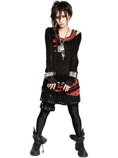 STUDS SLASH Knit Cutsew / See more at www.cdjapan.co.jp... #punk #jrock