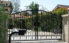 BFC Iron Wrought Iron Fences, Garden Bridge, Champagne, Outdoor Structures, Dreams, Painting, Painting Art, Paintings, Painted Canvas