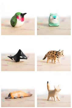 Some currently available totems from le animalé! mehr zum Selbermachen auf Interessante-dinge.de