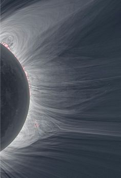 Detailed photo of solar eclipse