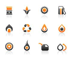 Fuel icons Royalty Free Stock Vector Art Illustration